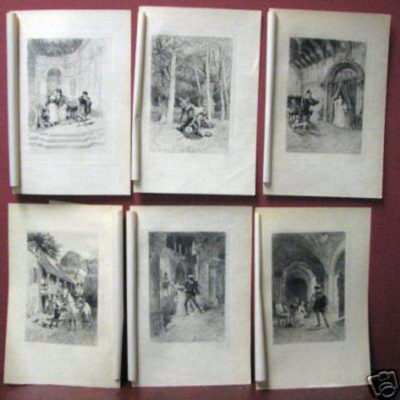 6-engraving-prints-by-lalauze-men-and-women-history-of-amy-and-murder