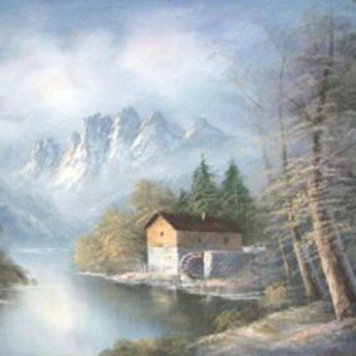 a-mill-in-the-mountains-by-wilson-rare-large-oil