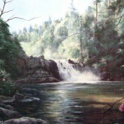 abramss-falls-spring-by-terry-chandler-waterfall
