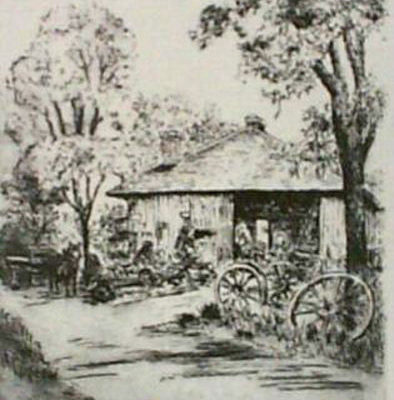 an-old-blacksmith-shop-by-williams-black-and-white