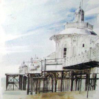 Painting of the Brighton West Pier by artist Edna Lumb.