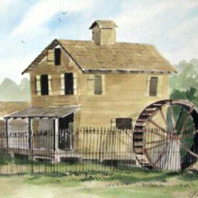 cannonsburgh-mill-by-webb-watercolor