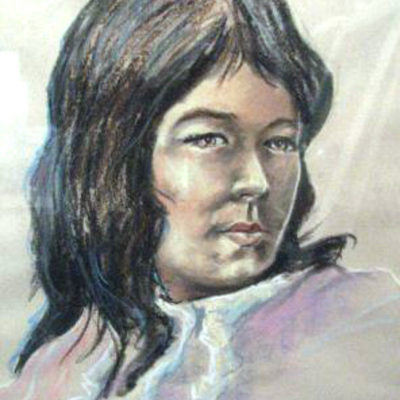 cherokee-maiden-by-bruce-higdon-original-chalk