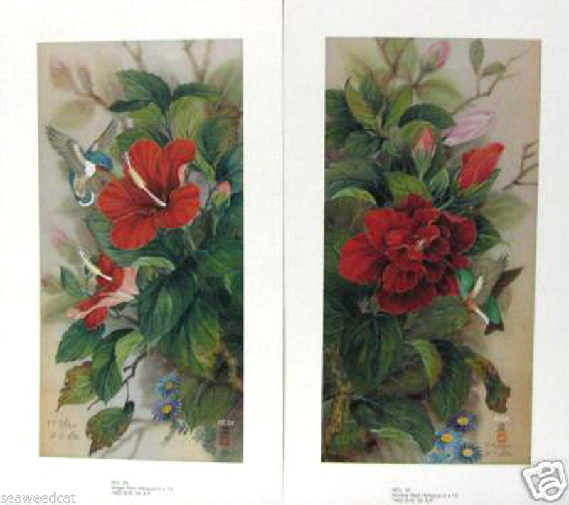 Single Red Hibiscus Double Red Hibiscus 2 Prints Emerys Fine