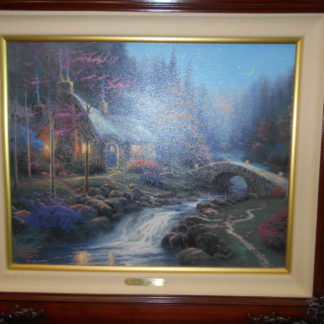 Amazing Thomas Kinkade Twilight Cottage Cottages Of Light Ii16X20 G P Canvas 444 1240 Home Interior And Landscaping Ologienasavecom