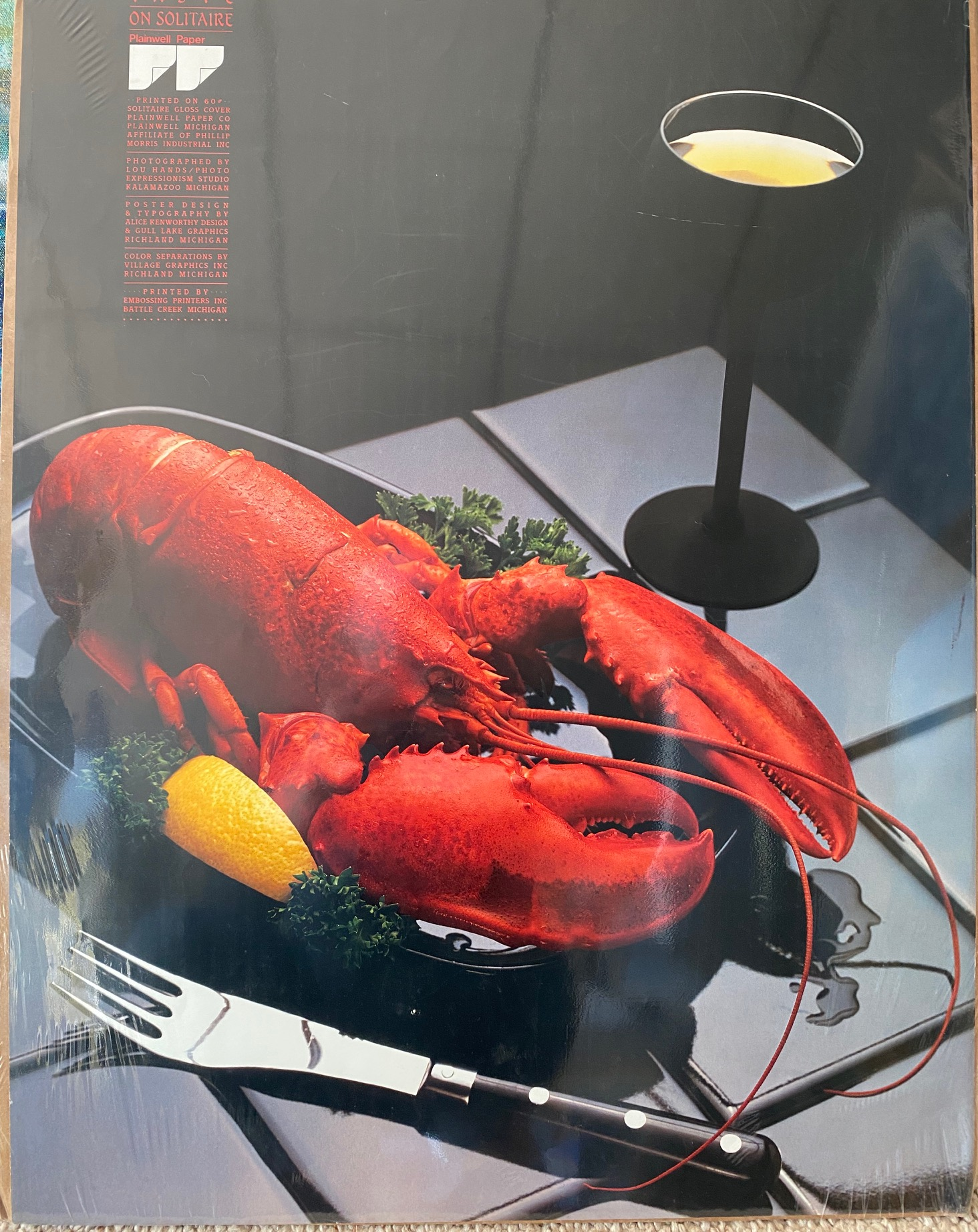 Lobster & Wine by Lou Hands - Poster ...